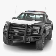 Polis kamyonet genel basit iç 3d model