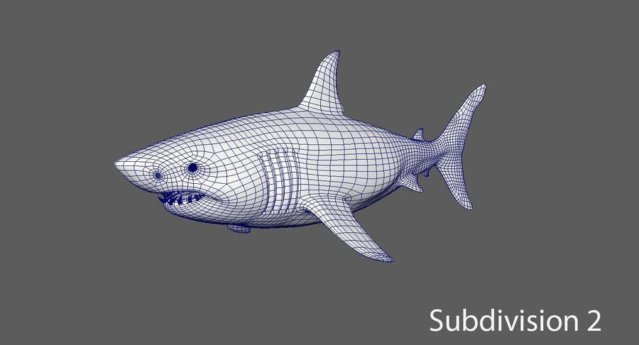 Grande squalo bianco royalty-free 3d model - Preview no. 14