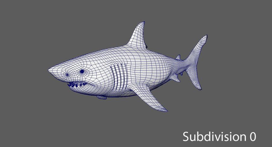 Grande squalo bianco royalty-free 3d model - Preview no. 13