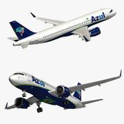 A320 Neo Azul Havayolları 3d model