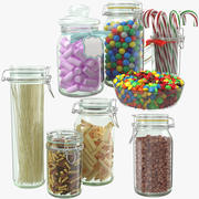 Glass Jars Collection 3d model