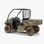 2019 Camo Dirty Kawasaki Mule SX 4x4 modelo 3D 3d model