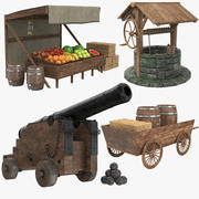 Medieval Collection 3d model