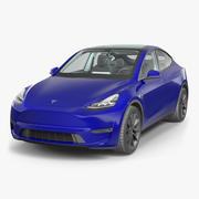 Tesla Model Y Blue 3D模型 3d model