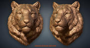 虎头动物雕塑 3d model