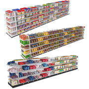 Supermarket Shelving Collection 3 3d model