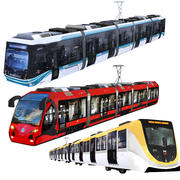 Tram , Train, Metro Collection 3d model