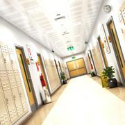 Schooll Hallway 2 3d model