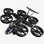 Uber Flying Taxi - Bell Nexus Drone - PBR 3d model