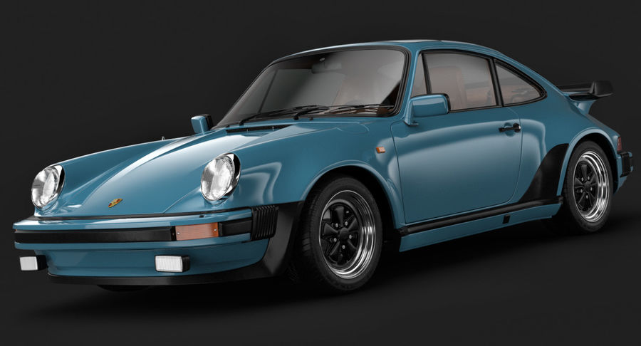 Porsche 911 Turbo 1982 royalty-free 3d model - Preview no. 2