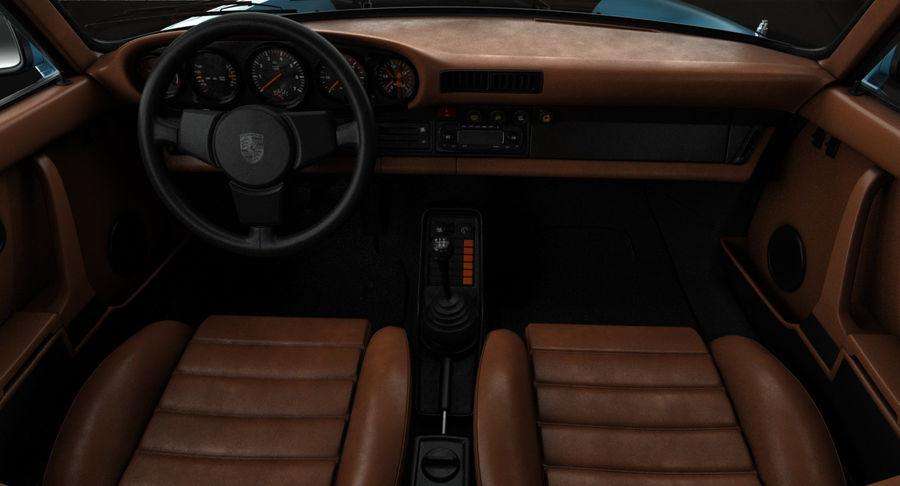 Porsche 911 Turbo 1982 royalty-free 3d model - Preview no. 11