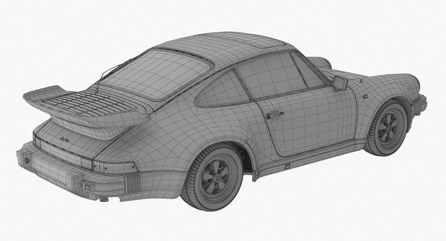 Porsche 911 Turbo 1982 royalty-free 3d model - Preview no. 15