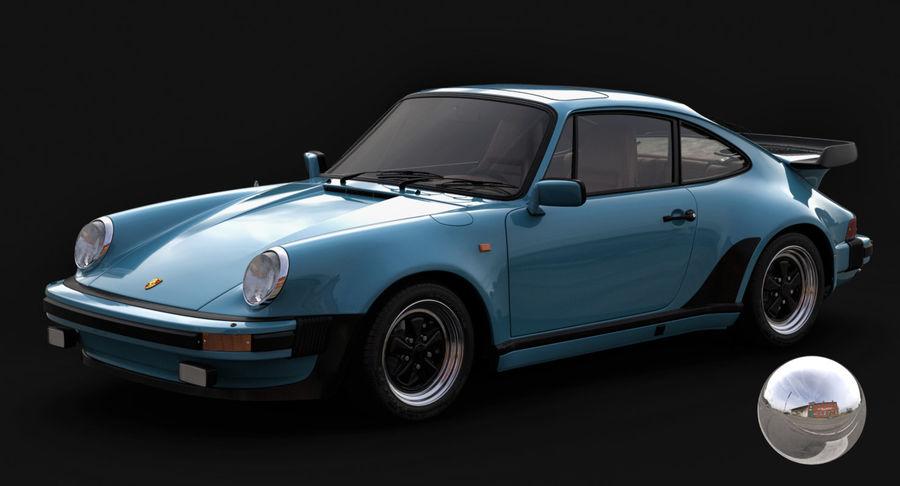 Porsche 911 Turbo 1982 royalty-free 3d model - Preview no. 12