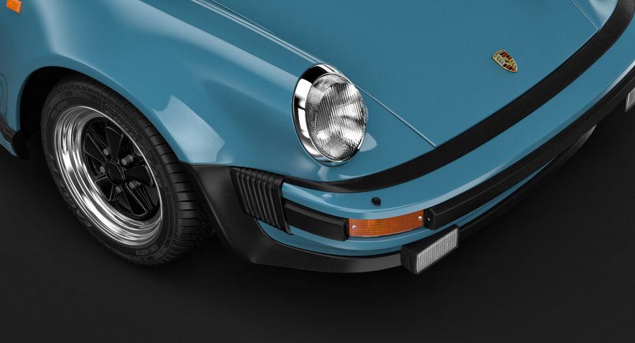 Porsche 911 Turbo 1982 royalty-free 3d model - Preview no. 8