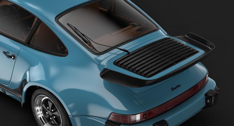 Porsche 911 Turbo 1982 royalty-free 3d model - Preview no. 9
