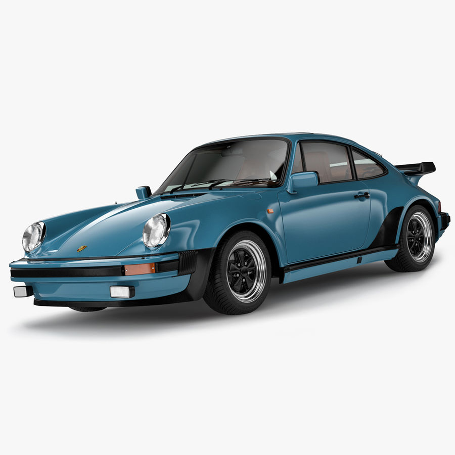 Porsche 911 Turbo 1982 royalty-free 3d model - Preview no. 1