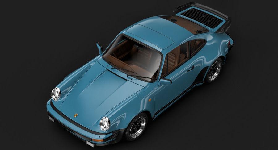 Porsche 911 Turbo 1982 royalty-free 3d model - Preview no. 5
