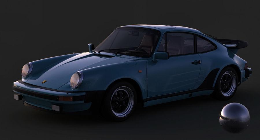 Porsche 911 Turbo 1982 royalty-free 3d model - Preview no. 13