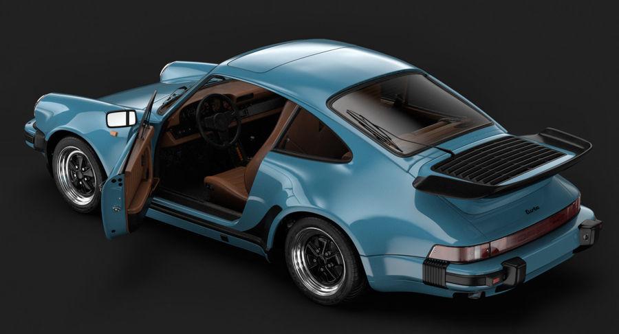 Porsche 911 Turbo 1982 royalty-free 3d model - Preview no. 7