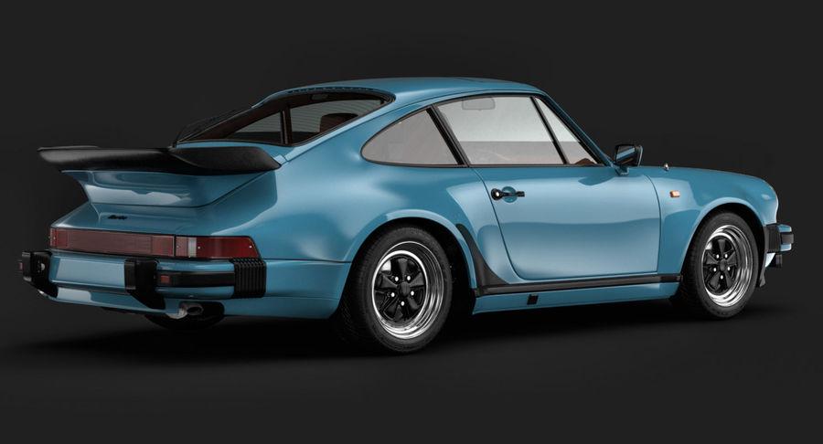 Porsche 911 Turbo 1982 royalty-free 3d model - Preview no. 3