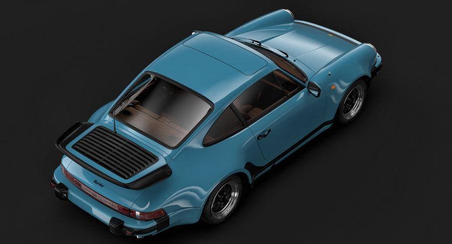 Porsche 911 Turbo 1982 royalty-free 3d model - Preview no. 6