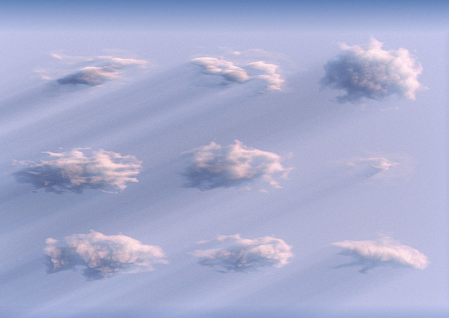 3D Clouds Animated Pack 9 royalty-free 3d model - Preview no. 3