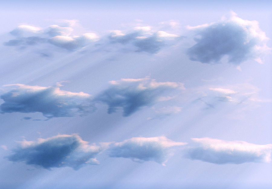 3D Clouds Animated Pack 9 royalty-free 3d model - Preview no. 2