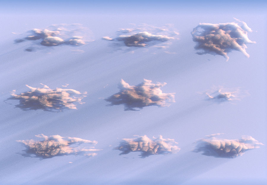 3D Clouds Animated Pack 9 royalty-free 3d model - Preview no. 4