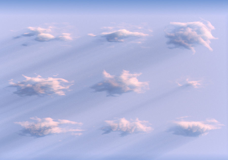 3D Clouds Animated Pack 9 royalty-free 3d model - Preview no. 10