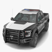 Police Pickup Truck Generic 3d model