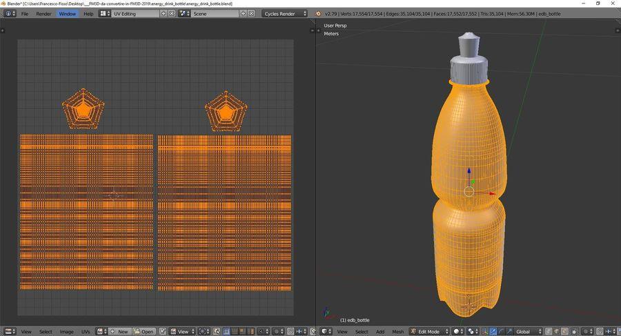 Bouteille de boisson énergétique royalty-free 3d model - Preview no. 10