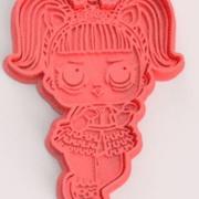 Set 7 cookie cutters Lol doll 3d model