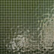 Conjunto de azulejos geometria padrão quadrado verde 3d model