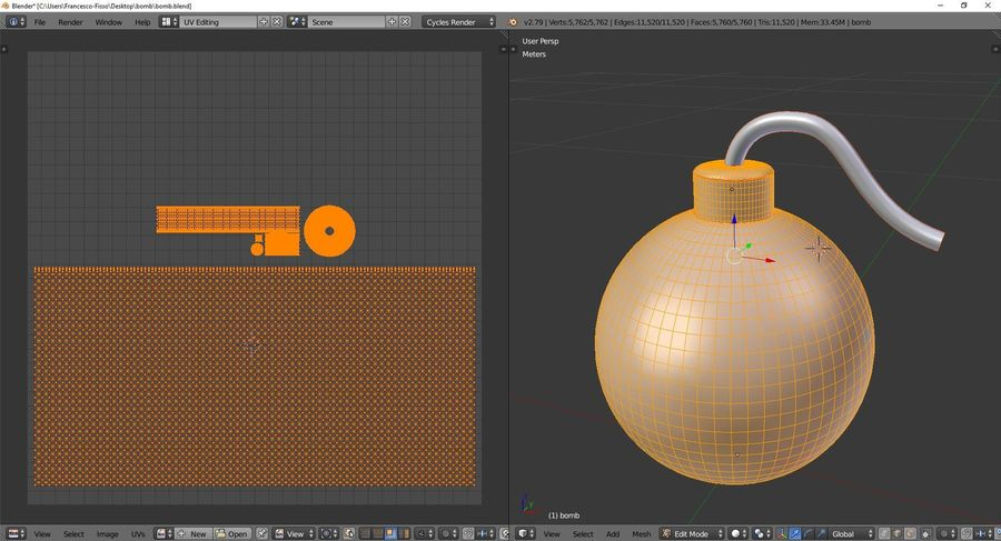 Bomb royalty-free 3d model - Preview no. 10