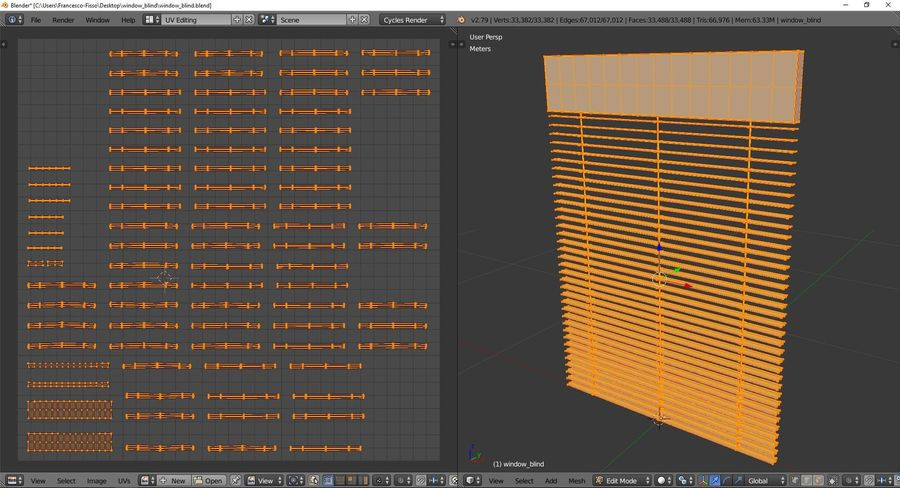 Window blind royalty-free 3d model - Preview no. 10