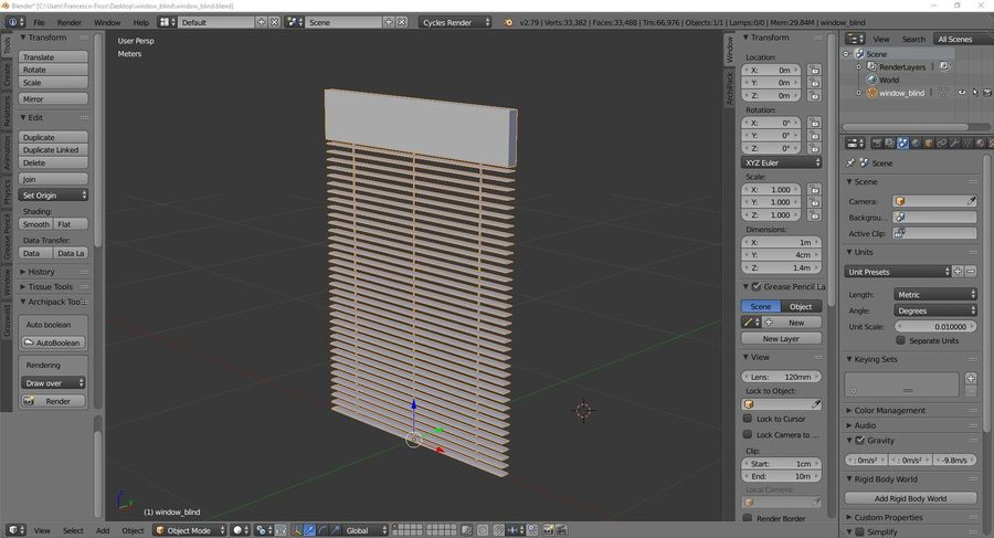 Window blind royalty-free 3d model - Preview no. 9