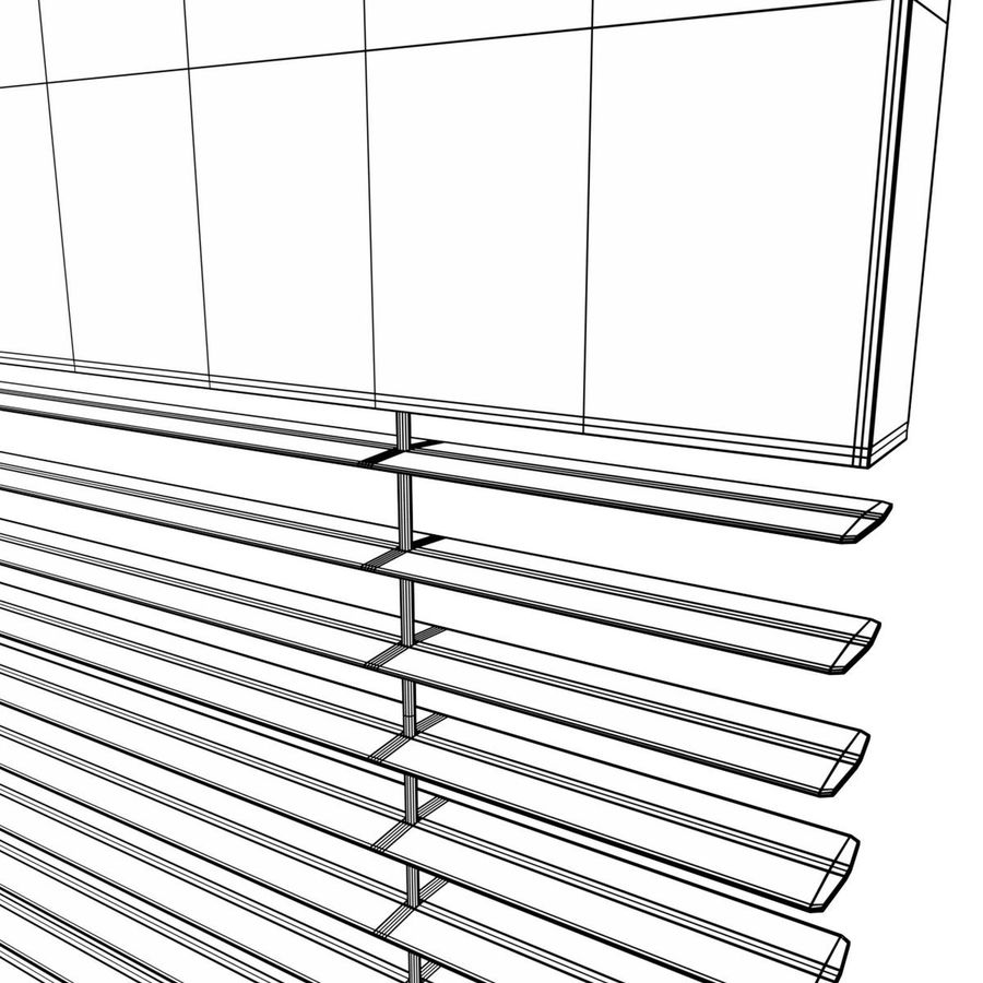 Window blind royalty-free 3d model - Preview no. 8