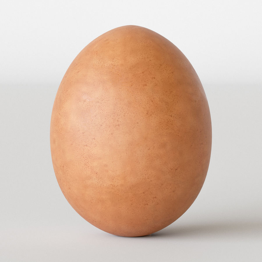 Brown Egg royalty-free 3d model - Preview no. 2