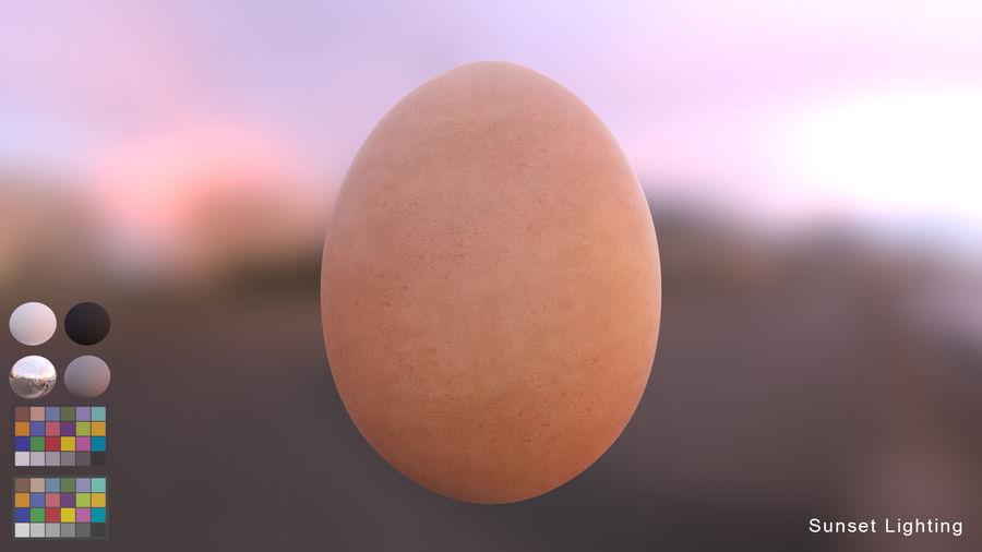 Brown Egg royalty-free 3d model - Preview no. 6