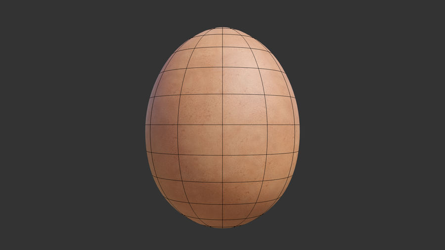 Brown Egg royalty-free 3d model - Preview no. 8
