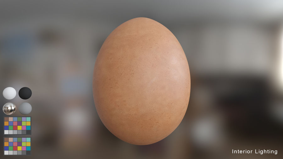 Brown Egg royalty-free 3d model - Preview no. 4