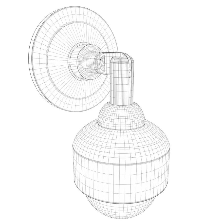 Wall mounted dome surveillance camera royalty-free 3d model - Preview no. 7