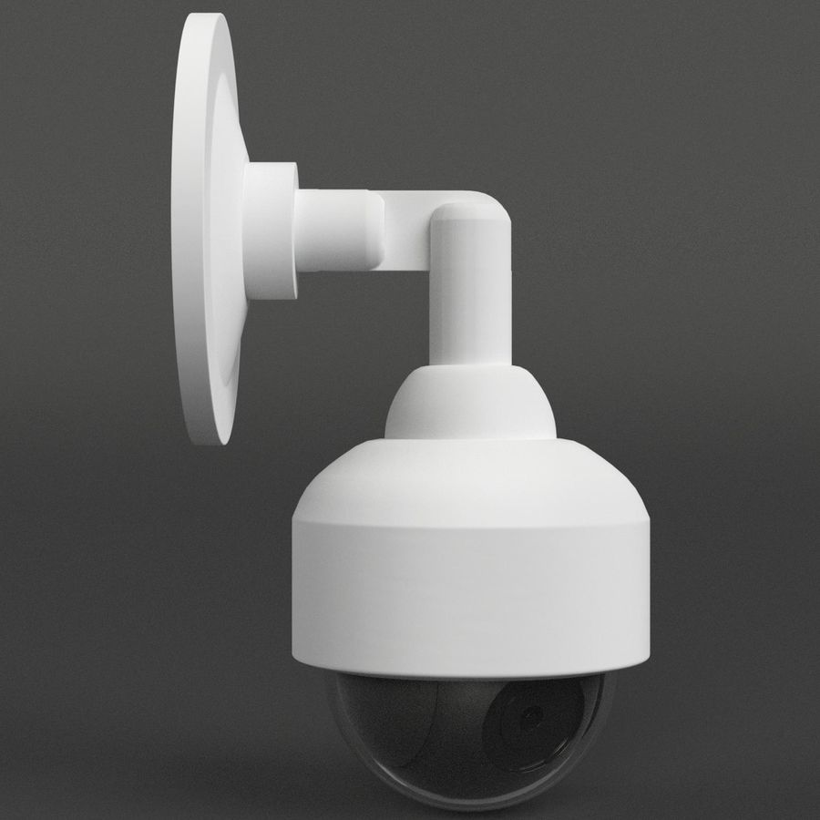 Wall mounted dome surveillance camera royalty-free 3d model - Preview no. 4