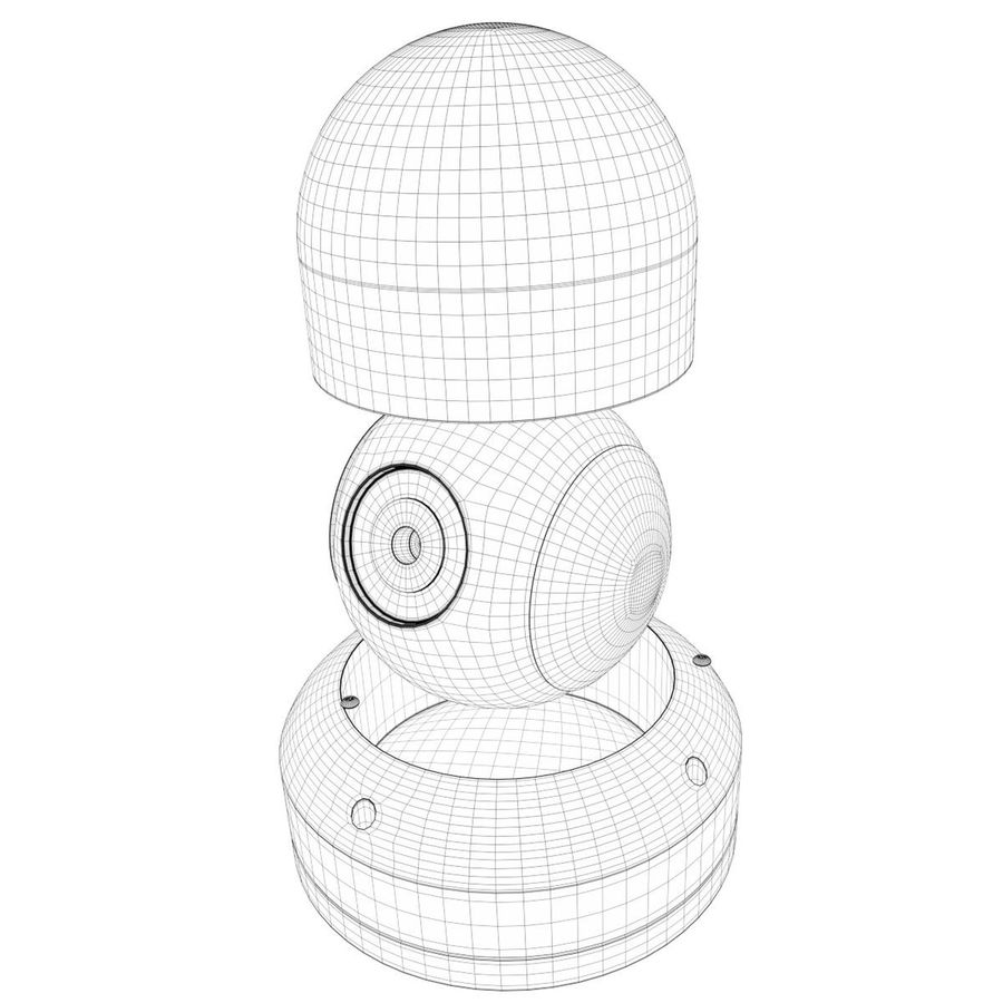Dome surveillance camera royalty-free 3d model - Preview no. 8