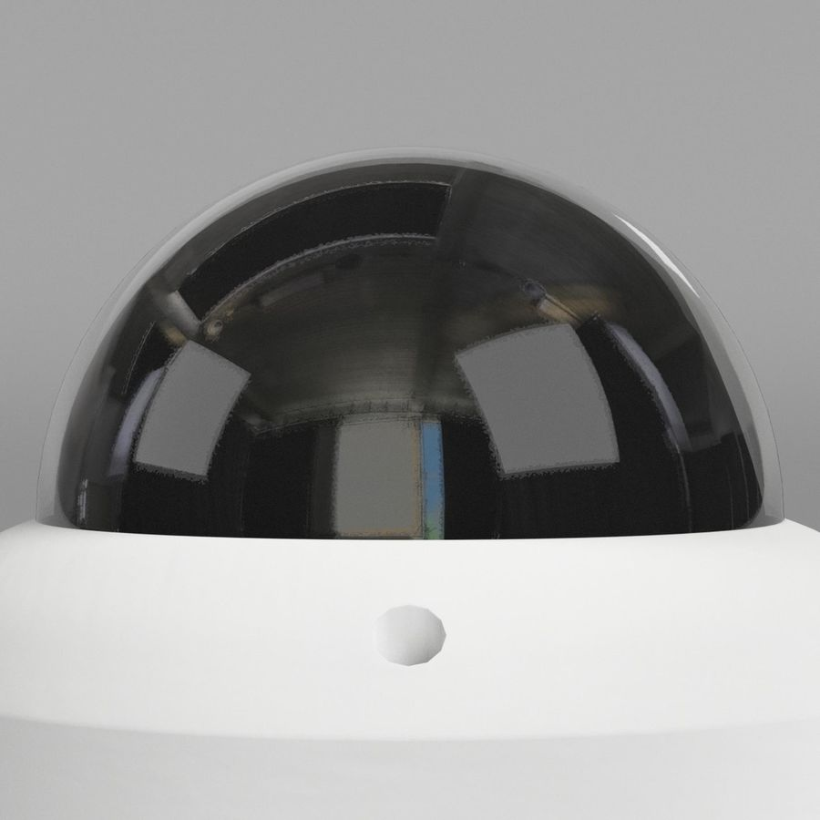 Dome surveillance camera royalty-free 3d model - Preview no. 4