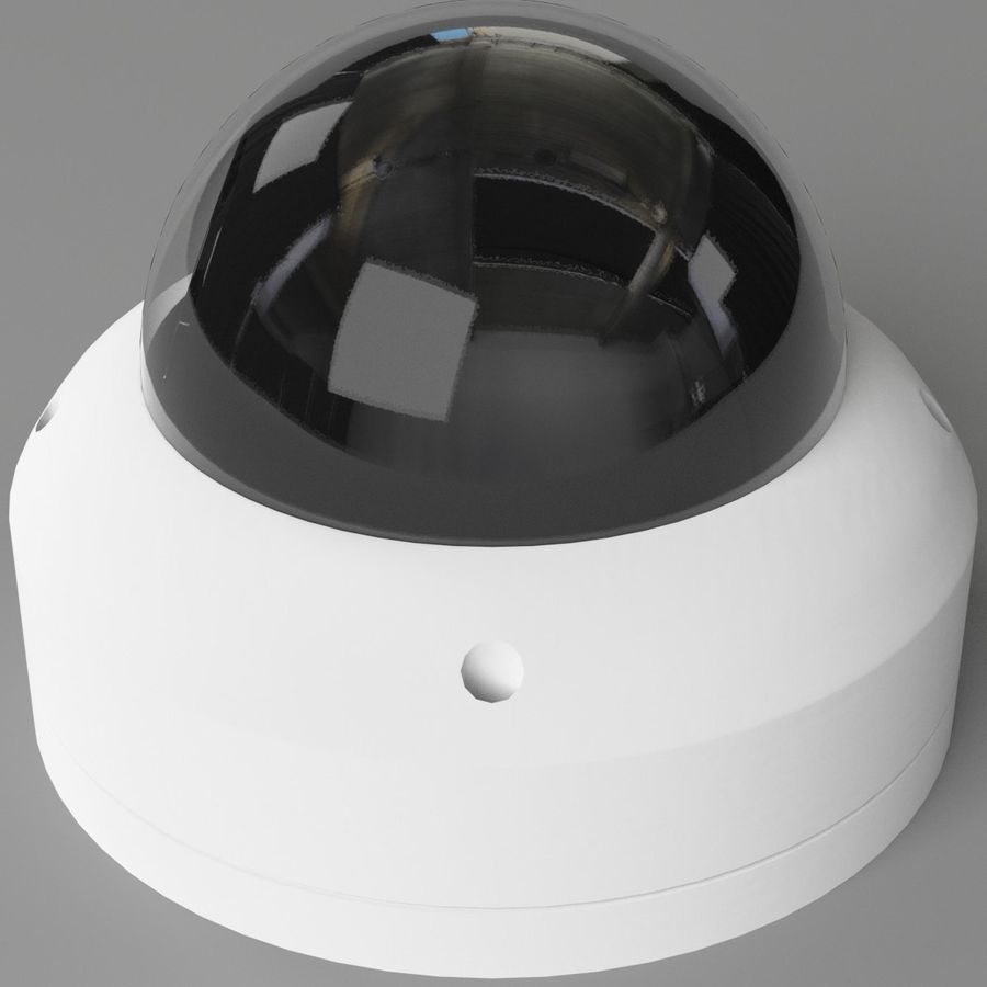 Dome surveillance camera royalty-free 3d model - Preview no. 5