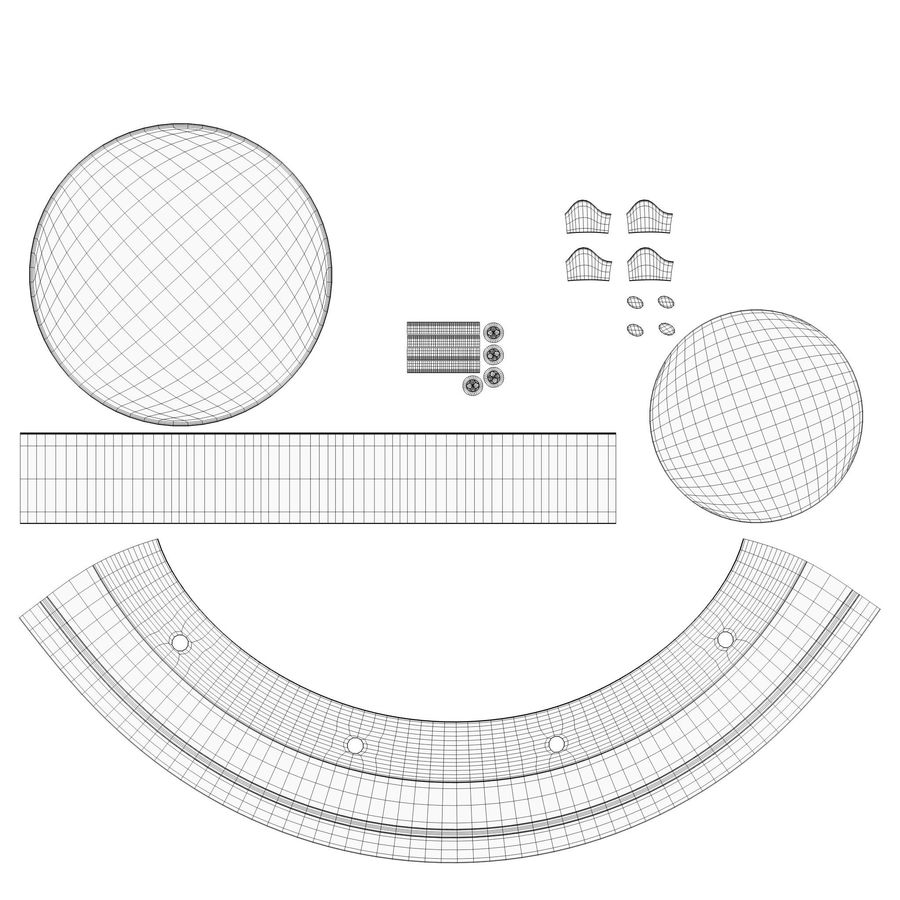 Dome surveillance camera royalty-free 3d model - Preview no. 11
