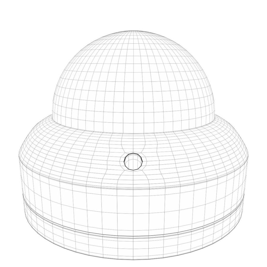 Dome surveillance camera royalty-free 3d model - Preview no. 7