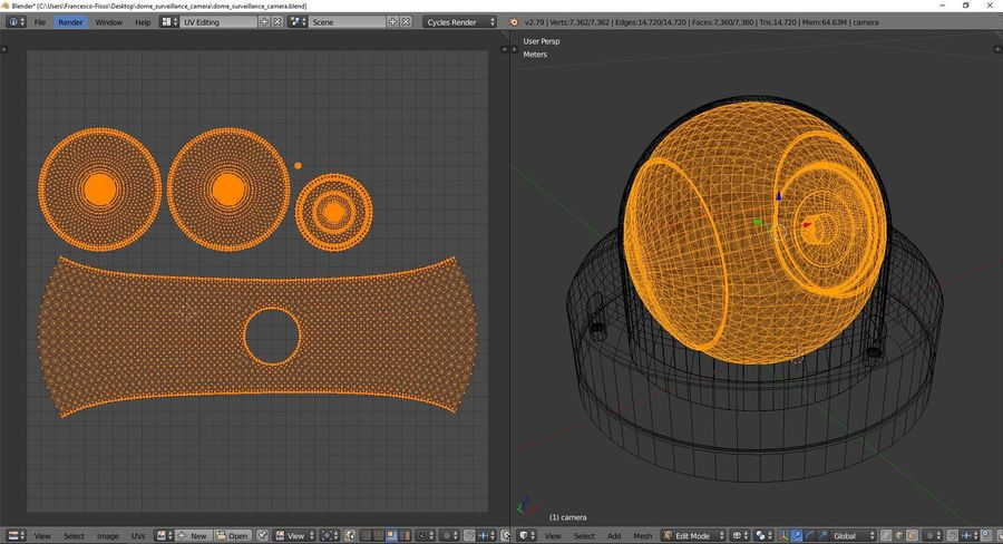 Dome surveillance camera royalty-free 3d model - Preview no. 10