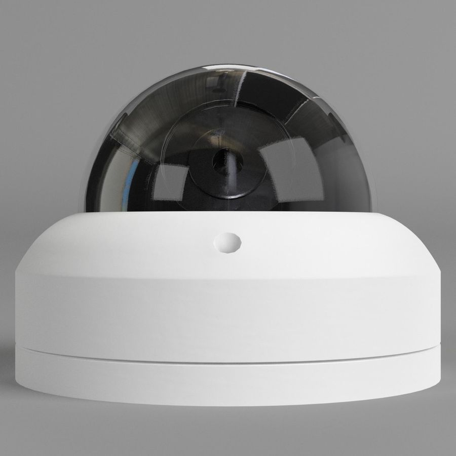 Dome surveillance camera royalty-free 3d model - Preview no. 3